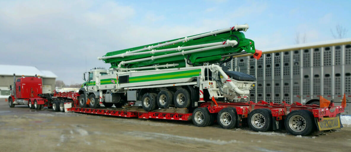 ZMac Load of the Month - Concrete Pump to South Dakota