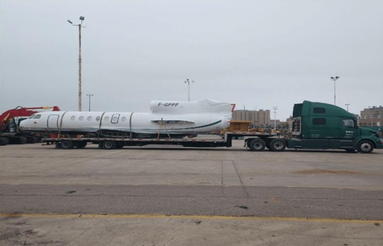 Oversized plane shipment