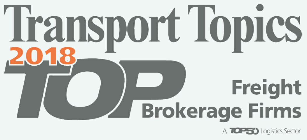 Transport Topics 2018 TOP Freight Brokerage Firms a TOP50 Logistics Sector